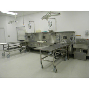Center Dissecting, Two Areas for Cart-Sink Station-Mortech Manufacturing Company Inc. Quality Stainless Steel Autopsy, Morgue, Funeral Home, Necropsy, Veterinary / Anatomy, Dissection Equipment and Accessories