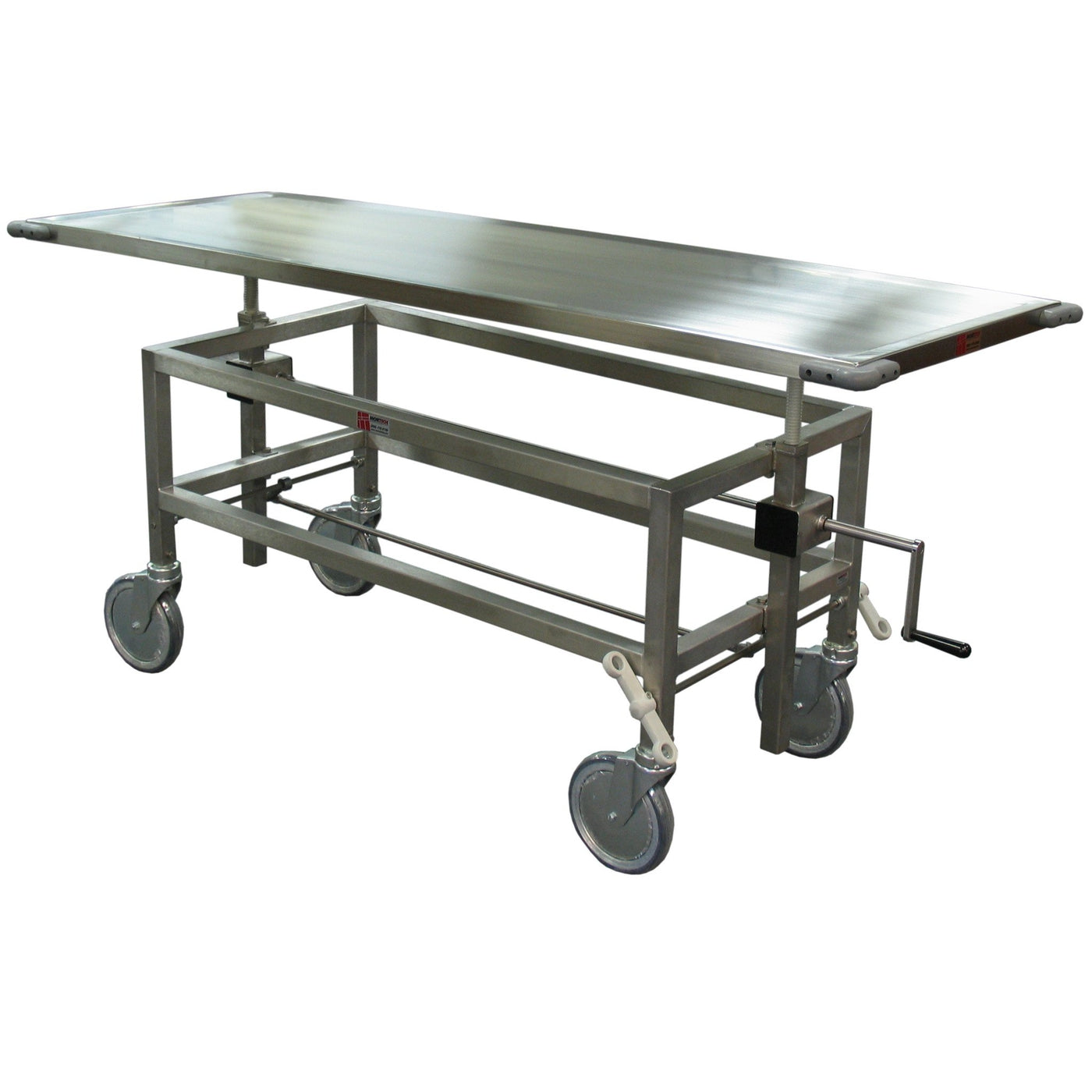 Front & Rear Elevating Autopsy Carriers-Body Transporter-Mortech Manufacturing Company Inc. Quality Stainless Steel Autopsy, Morgue, Funeral Home, Necropsy, Veterinary / Anatomy, Dissection Equipment and Accessories