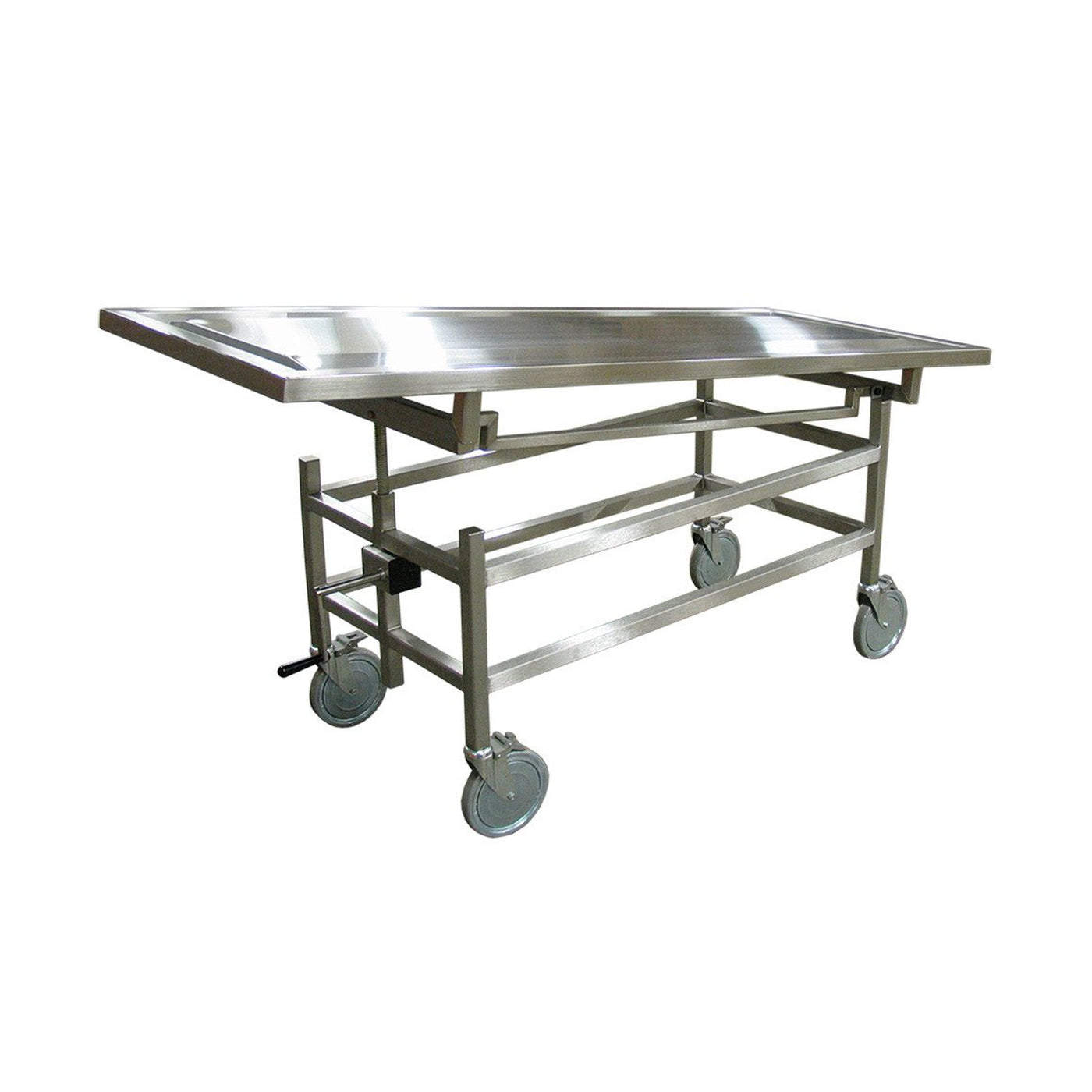 Standard Autopsy Carrier-Body Transporter-Mortech Manufacturing Company Inc. Quality Stainless Steel Autopsy, Morgue, Funeral Home, Necropsy, Veterinary / Anatomy, Dissection Equipment and Accessories
