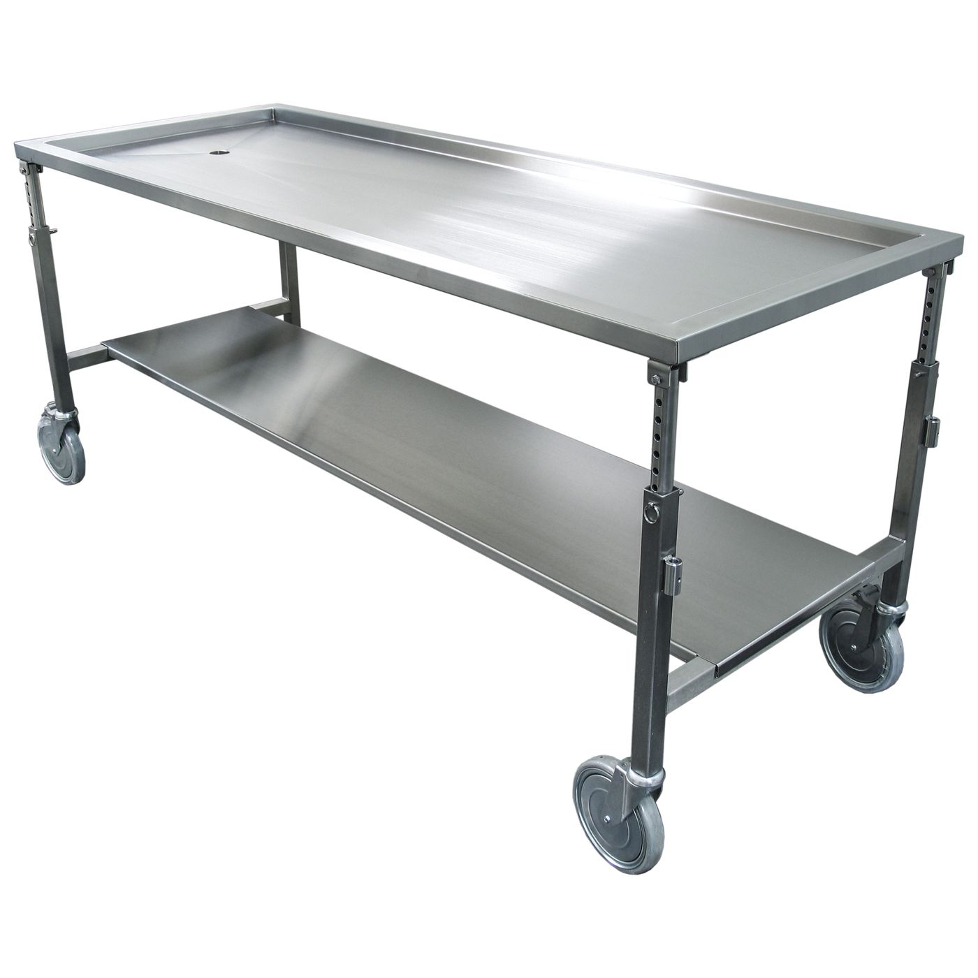 Dissection Table with Manual Height Adjustment-Anatomy Dissection Tables-Mortech Manufacturing Company Inc. Quality Stainless Steel Autopsy, Morgue, Funeral Home, Necropsy, Veterinary / Anatomy, Dissection Equipment and Accessories