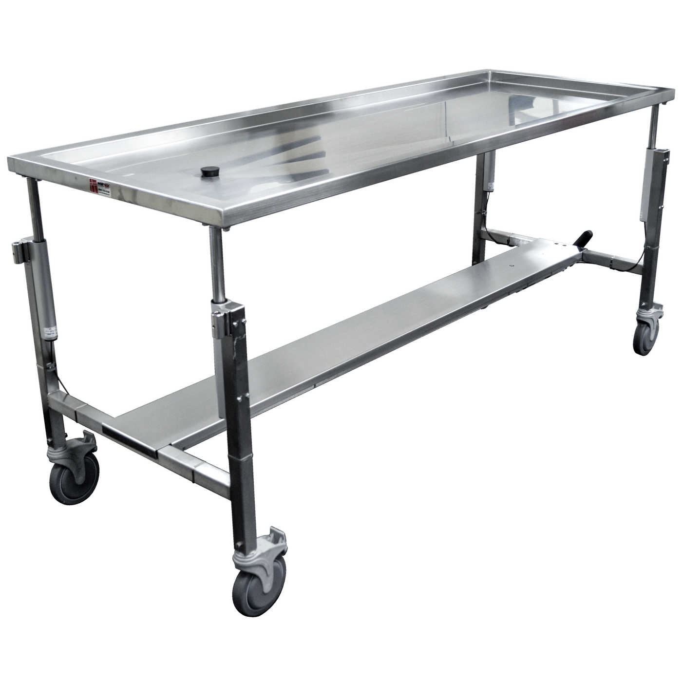 ADA Compliant Dissection Table with Hydraulic Height Adjustment-Anatomy Dissection Tables-Mortech Manufacturing Company Inc. Quality Stainless Steel Autopsy, Morgue, Funeral Home, Necropsy, Veterinary / Anatomy, Dissection Equipment and Accessories