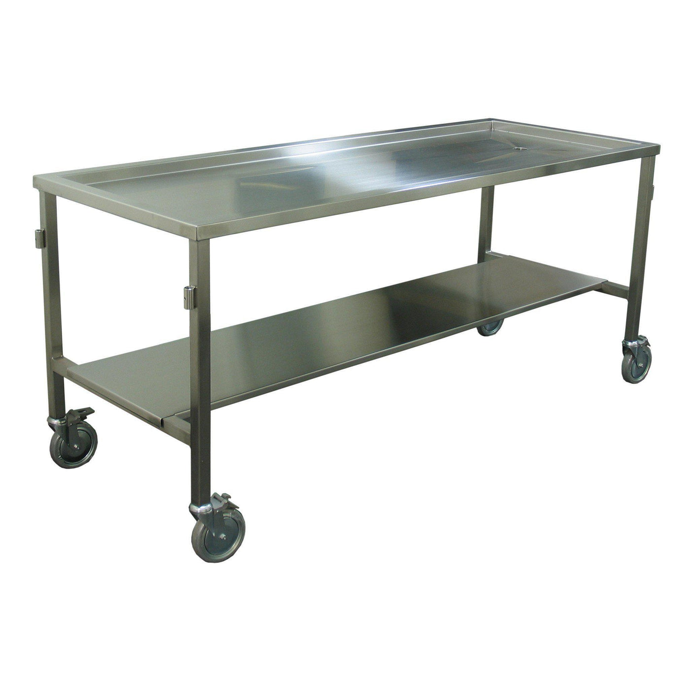 Standard Dissection Table-Anatomy Dissection Tables-Mortech Manufacturing Company Inc. Quality Stainless Steel Autopsy, Morgue, Funeral Home, Necropsy, Veterinary / Anatomy, Dissection Equipment and Accessories