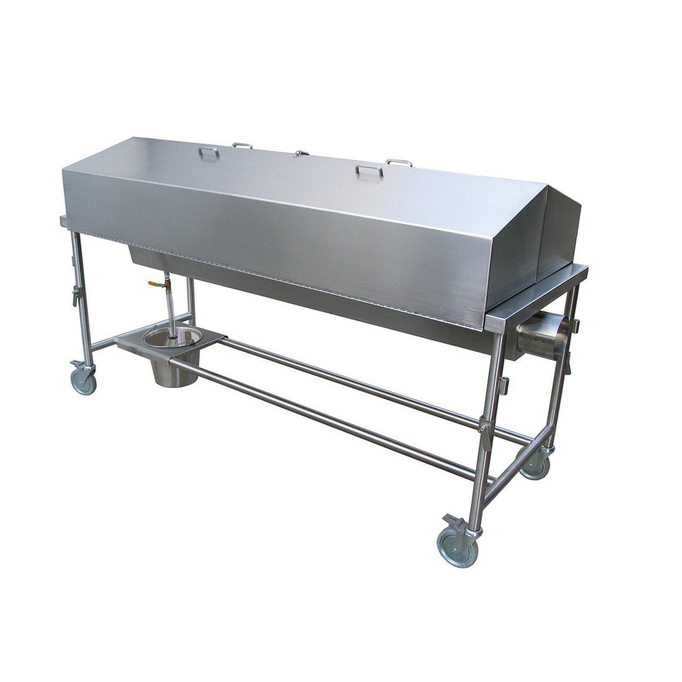 Hooded Dissection Table with Exhaust Chamber-Anatomy Dissection Tables-Mortech Manufacturing Company Inc. Quality Stainless Steel Autopsy, Morgue, Funeral Home, Necropsy, Veterinary / Anatomy, Dissection Equipment and Accessories
