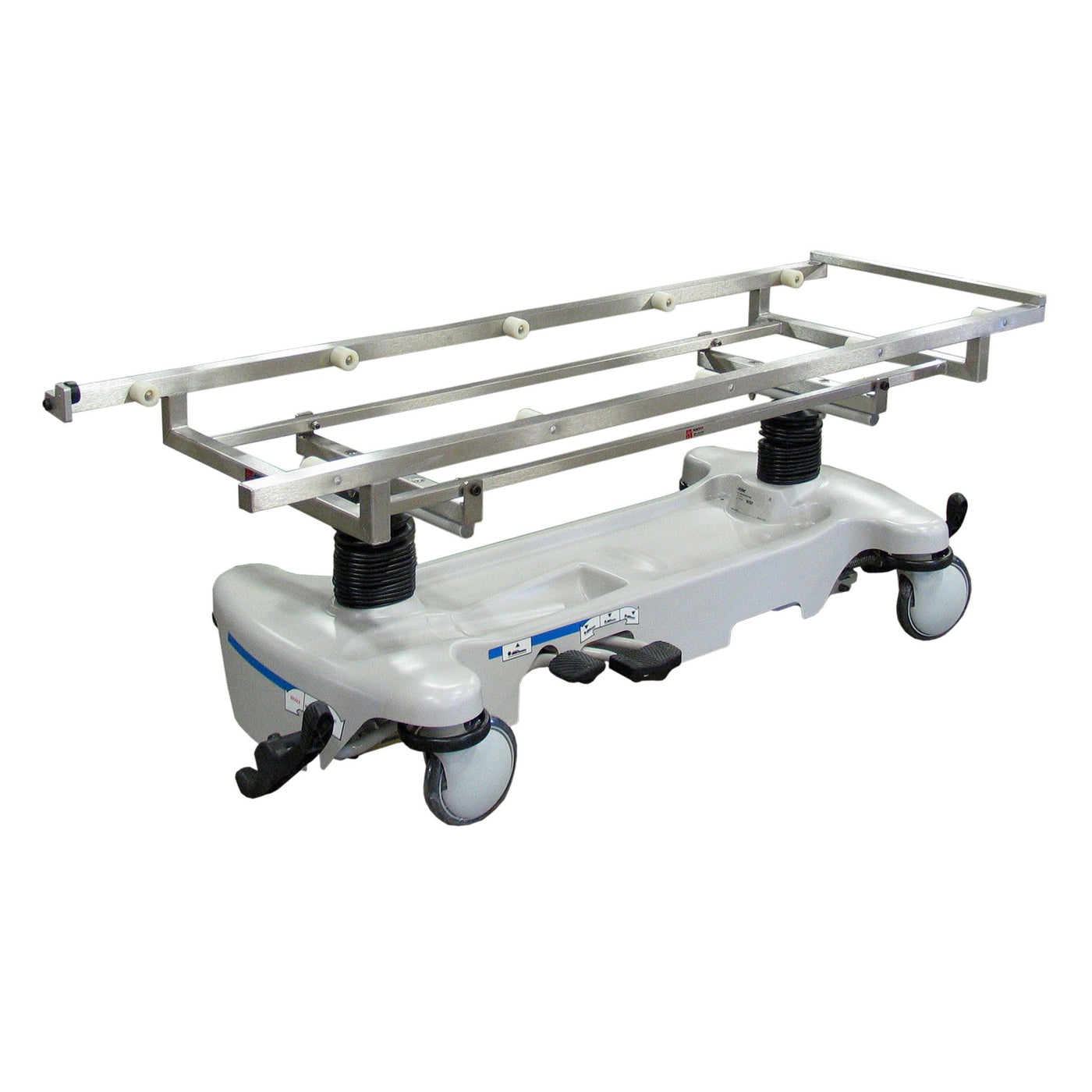 Autopsy Carrier w/ Rollers-Body Transporter-Mortech Manufacturing Company Inc. Quality Stainless Steel Autopsy, Morgue, Funeral Home, Necropsy, Veterinary / Anatomy, Dissection Equipment and Accessories