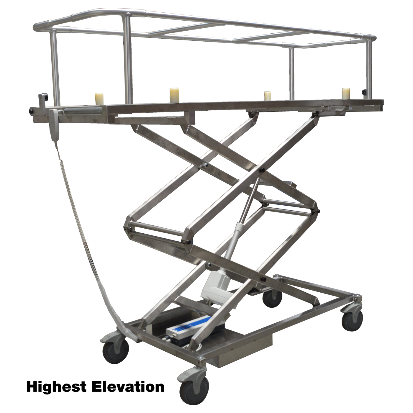 Covered Cadaver Scissor Carrier-Body Transporter-Mortech Manufacturing Company Inc. Quality Stainless Steel Autopsy, Morgue, Funeral Home, Necropsy, Veterinary / Anatomy, Dissection Equipment and Accessories