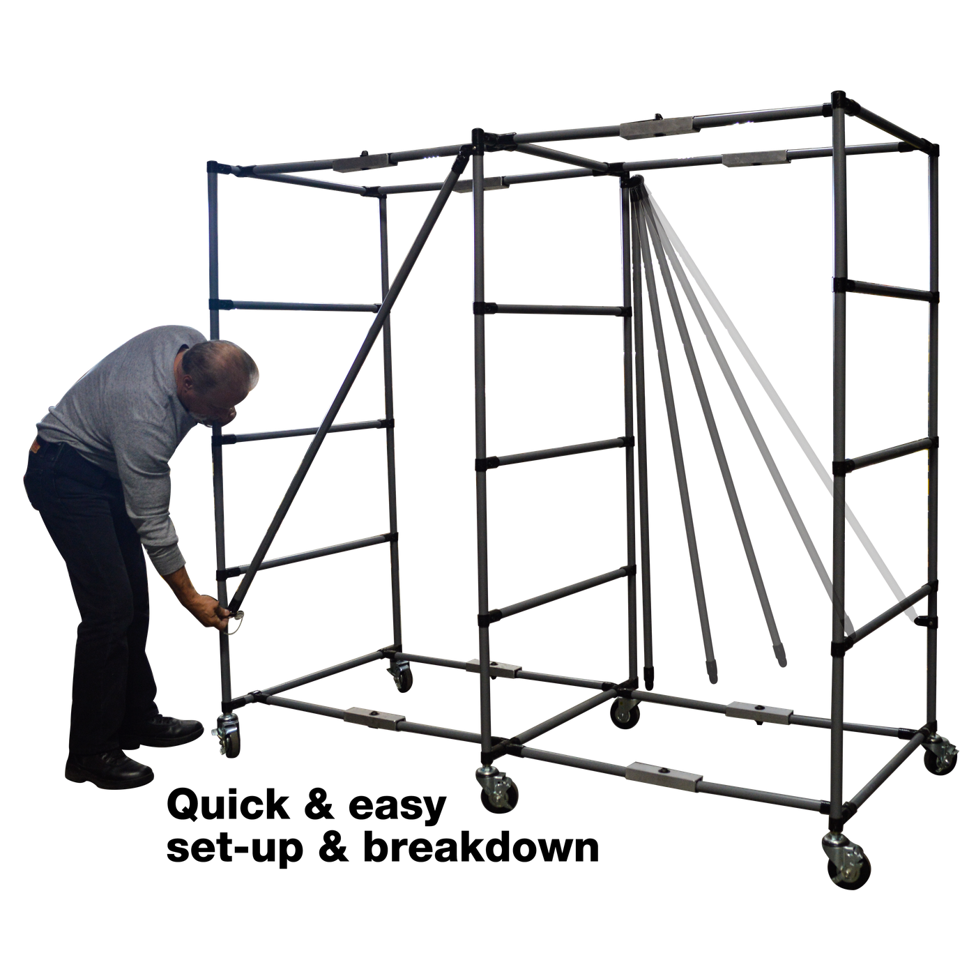 Deployable Rack System with Full Rollers-Cadaver Handling & Storage Systems-Mortech Manufacturing Company Inc. Quality Stainless Steel Autopsy, Morgue, Funeral Home, Necropsy, Veterinary / Anatomy, Dissection Equipment and Accessories