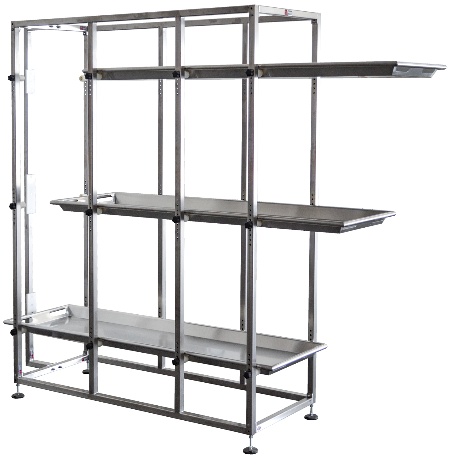 Mortuary Rack with Adjustable Tier Heights