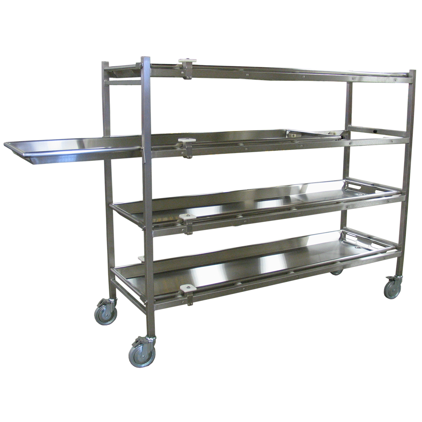 Portable Mortuary Rack with Rollers-Cadaver Handling & Storage Systems-Mortech Manufacturing Company Inc. Quality Stainless Steel Autopsy, Morgue, Funeral Home, Necropsy, Veterinary / Anatomy, Dissection Equipment and Accessories