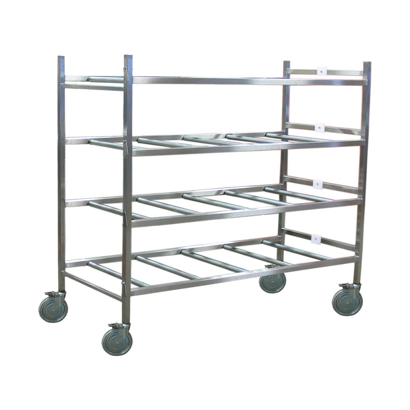 Portable Cremation Storage Rack with Full Rollers-Cadaver Handling & Storage Systems-Mortech Manufacturing Company Inc. Quality Stainless Steel Autopsy, Morgue, Funeral Home, Necropsy, Veterinary / Anatomy, Dissection Equipment and Accessories