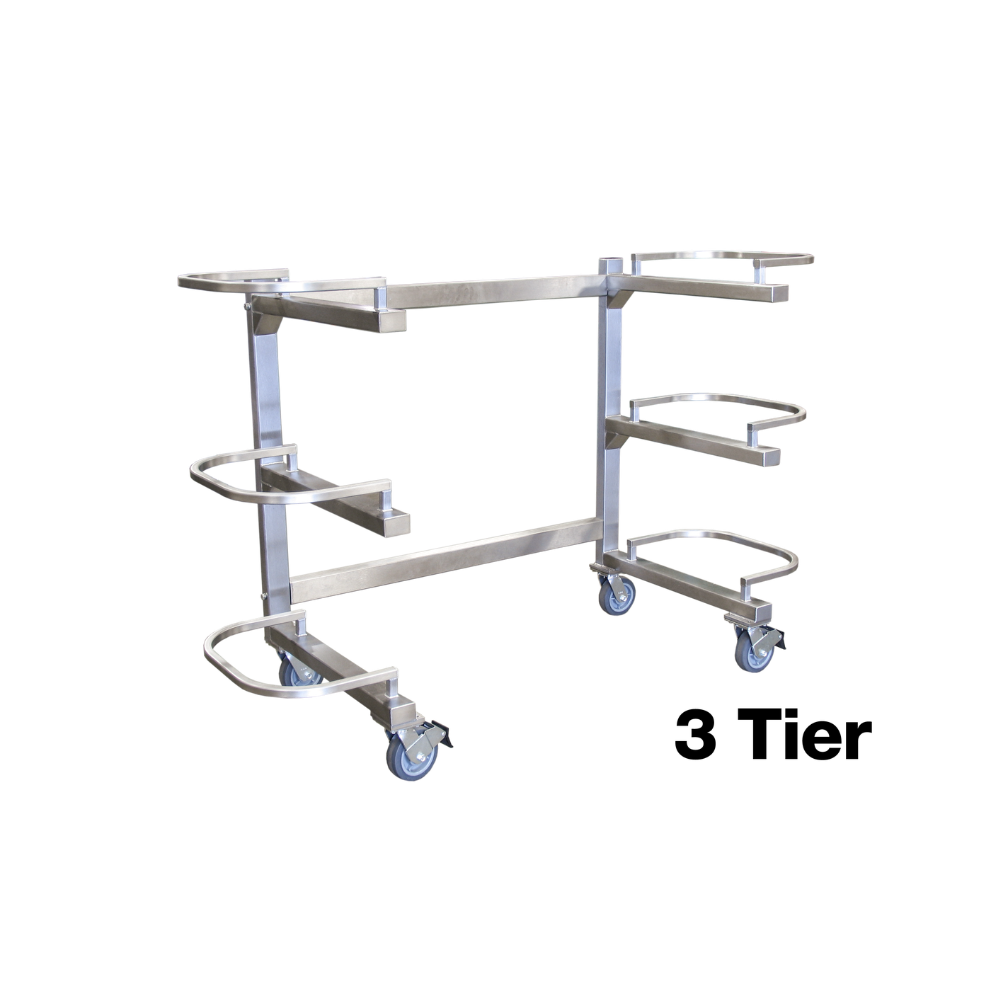 Two Tier Storage Carrier (7020-03)-Cadaver Handling & Storage Systems-Mortech Manufacturing Company Inc. Quality Stainless Steel Autopsy, Morgue, Funeral Home, Necropsy, Veterinary / Anatomy, Dissection Equipment and Accessories