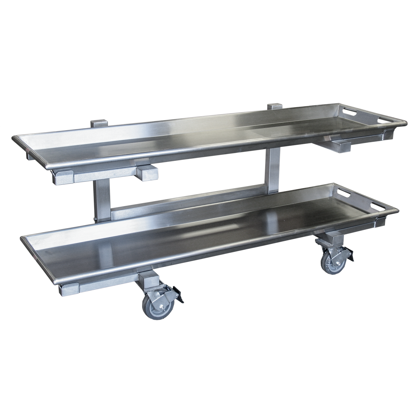 Two Tier Storage Carrier (7020-26)-Cadaver Handling & Storage Systems-Mortech Manufacturing Company Inc. Quality Stainless Steel Autopsy, Morgue, Funeral Home, Necropsy, Veterinary / Anatomy, Dissection Equipment and Accessories
