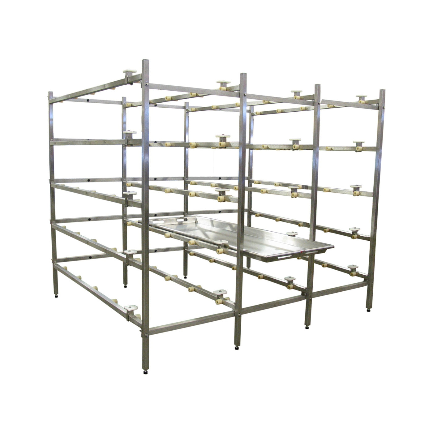 Mortuary Rack System with Rollers-Cadaver Handling & Storage Systems-Mortech Manufacturing Company Inc. Quality Stainless Steel Autopsy, Morgue, Funeral Home, Necropsy, Veterinary / Anatomy, Dissection Equipment and Accessories