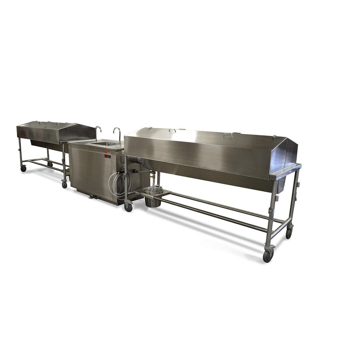 Dissecting Table Docking Station-Anatomy Dissection Tables-Mortech Manufacturing Company Inc. Quality Stainless Steel Autopsy, Morgue, Funeral Home, Necropsy, Veterinary / Anatomy, Dissection Equipment and Accessories