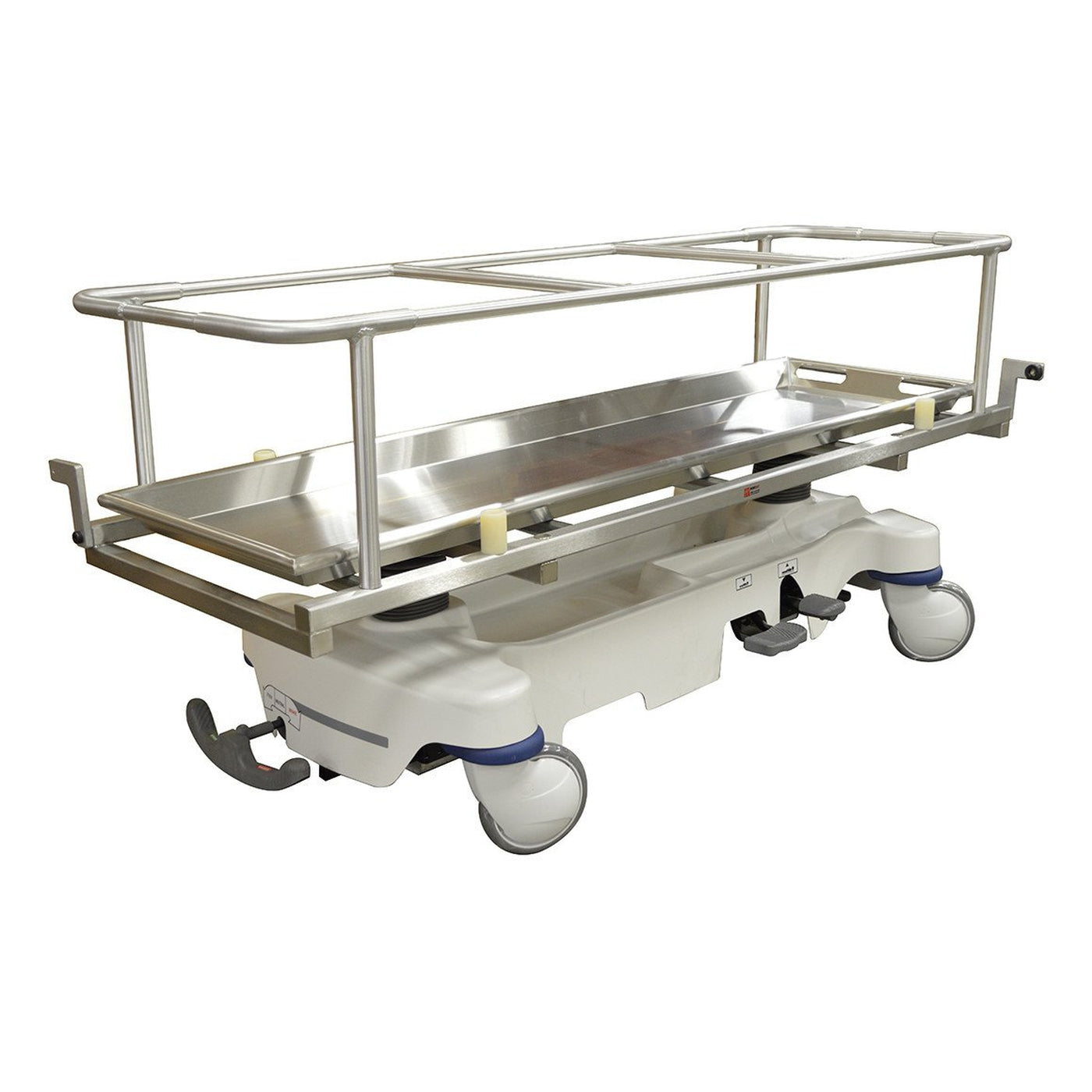 Hydraulic Covered Cadaver Carrier with Rollers-Body Transporter-Mortech Manufacturing Company Inc. Quality Stainless Steel Autopsy, Morgue, Funeral Home, Necropsy, Veterinary / Anatomy, Dissection Equipment and Accessories