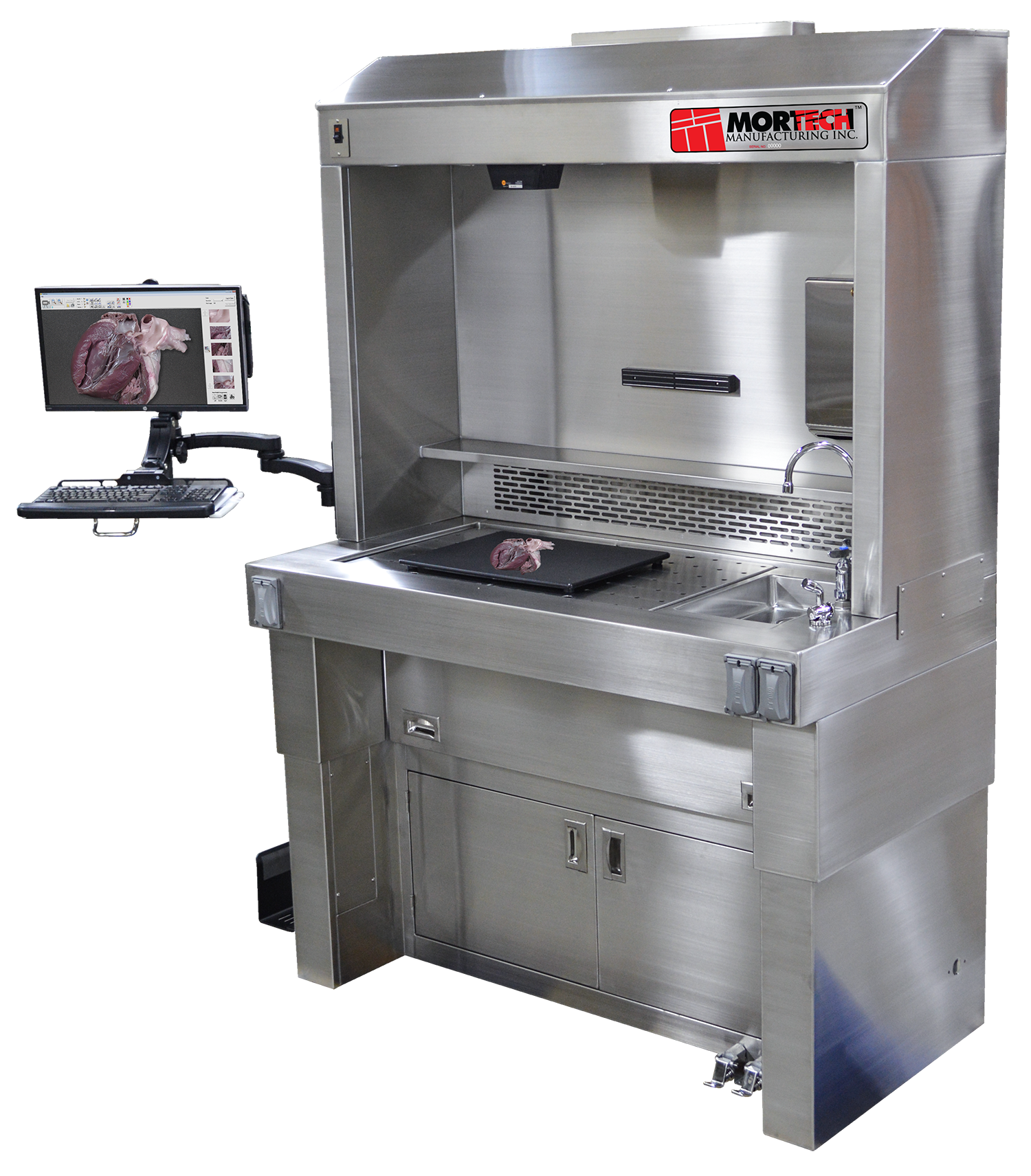 PathStation™: In-Hood Telepathology Imaging System for Grossing-Laboratory Accessory-Mortech Manufacturing Company Inc. Quality Stainless Steel Autopsy, Morgue, Funeral Home, Necropsy, Veterinary / Anatomy, Dissection Equipment and Accessories