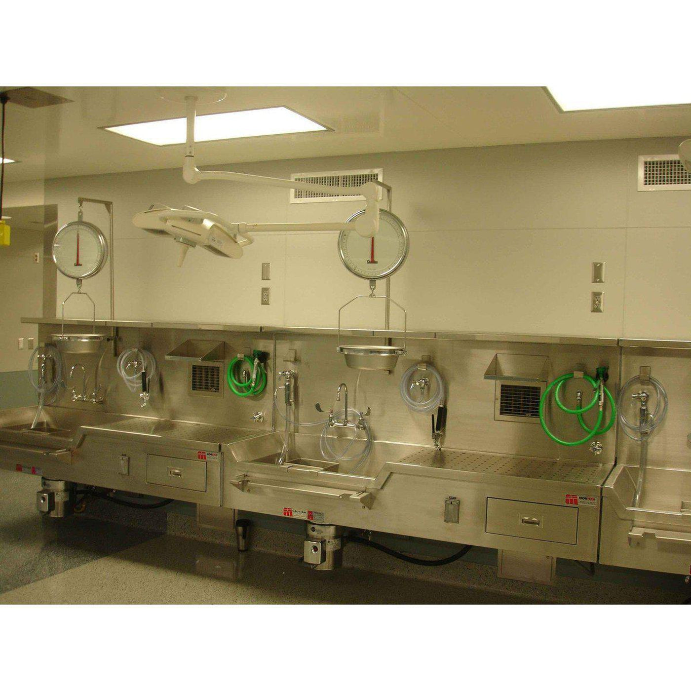 Wall Mount Autopsy Station, Left Sink-Sink Station-Mortech Manufacturing Company Inc. Quality Stainless Steel Autopsy, Morgue, Funeral Home, Necropsy, Veterinary / Anatomy, Dissection Equipment and Accessories