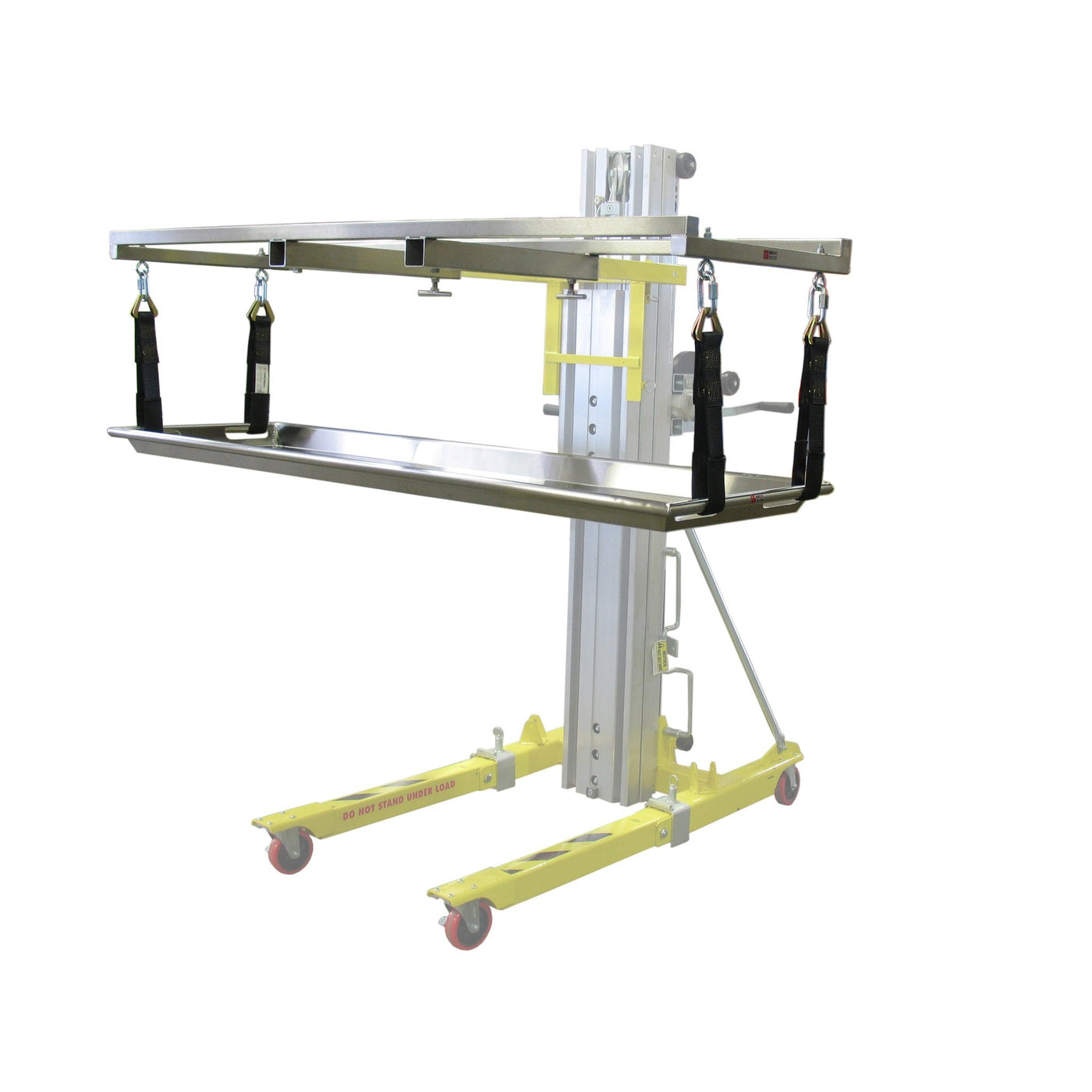 Strap Lift Assembly-Cadaver Handling & Storage Systems-Mortech Manufacturing Company Inc. Quality Stainless Steel Autopsy, Morgue, Funeral Home, Necropsy, Veterinary / Anatomy, Dissection Equipment and Accessories