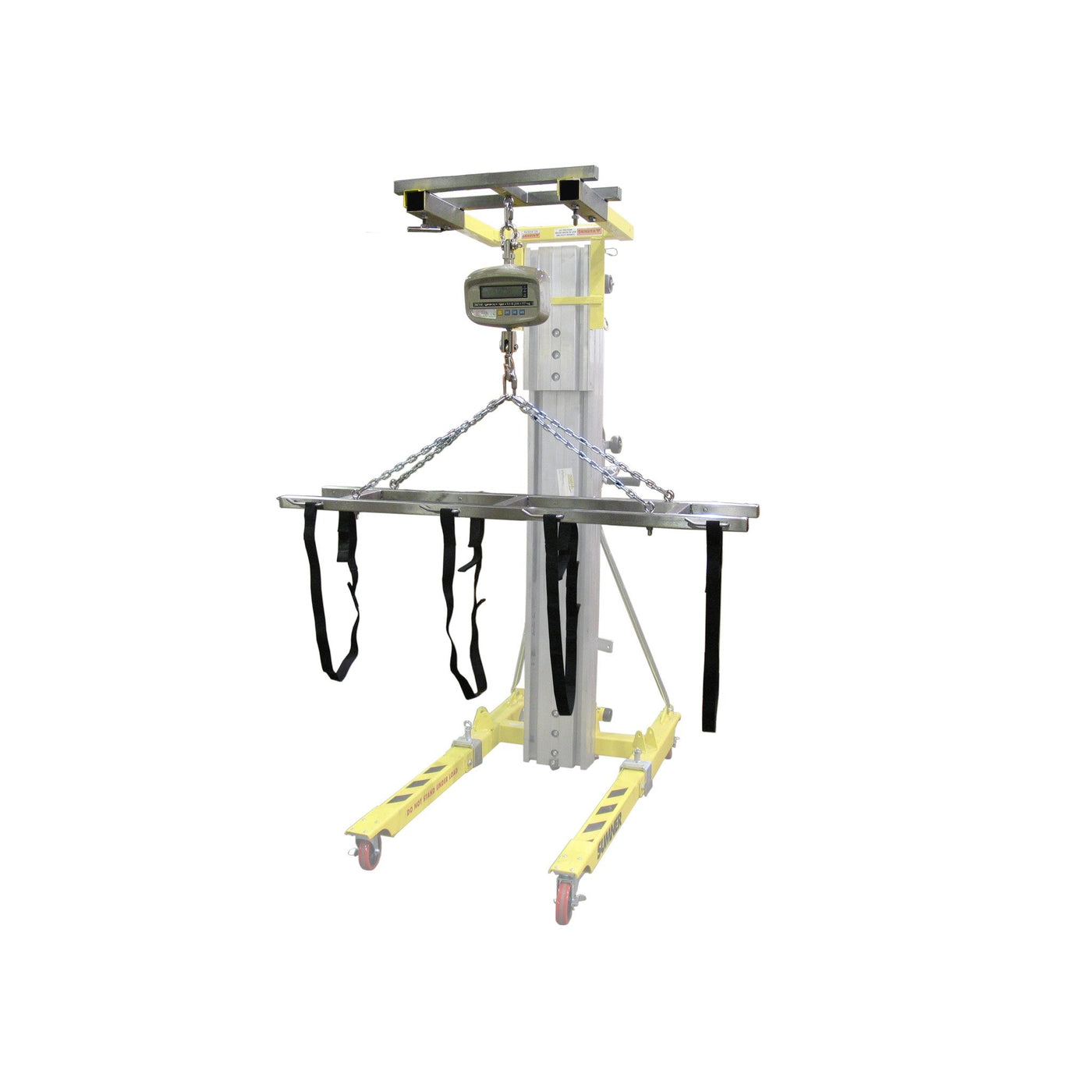 Adjustable Strap Lift Assembly with Scale Attachment-Cadaver Handling & Storage Systems-Mortech Manufacturing Company Inc. Quality Stainless Steel Autopsy, Morgue, Funeral Home, Necropsy, Veterinary / Anatomy, Dissection Equipment and Accessories