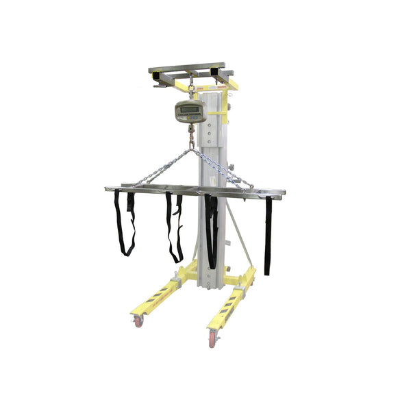 Adjustable Strap Lift Assembly with Scale Attachment