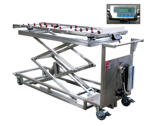 Portable Cadaver Scissor Lift with Scale