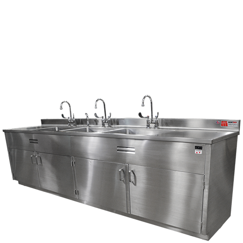 Adjustable Height Decontamination Sink