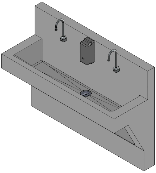 Double Scrub Station (ADA)-Sink Station-Mortech Manufacturing Company Inc. Quality Stainless Steel Autopsy, Morgue, Funeral Home, Necropsy, Veterinary / Anatomy, Dissection Equipment and Accessories