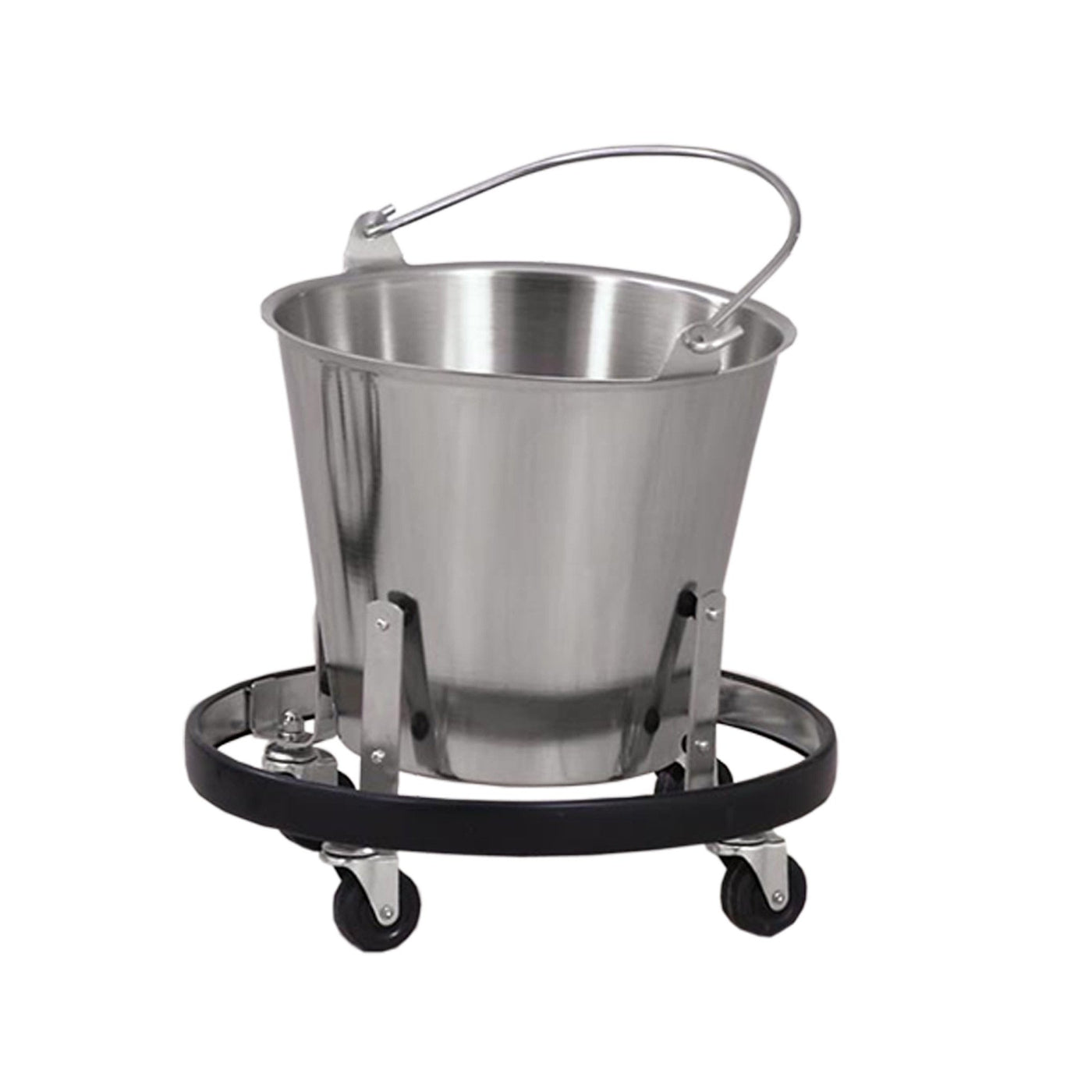 Mobile Stand for Drain Pails-Laboratory Accessory-Mortech Manufacturing Company Inc. Quality Stainless Steel Autopsy, Morgue, Funeral Home, Necropsy, Veterinary / Anatomy, Dissection Equipment and Accessories