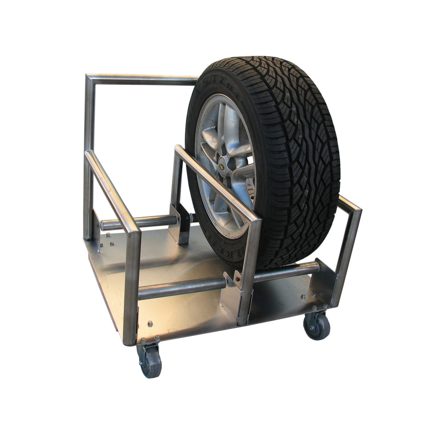 Tire Stand-Laboratory Accessory-Mortech Manufacturing Company Inc. Quality Stainless Steel Autopsy, Morgue, Funeral Home, Necropsy, Veterinary / Anatomy, Dissection Equipment and Accessories