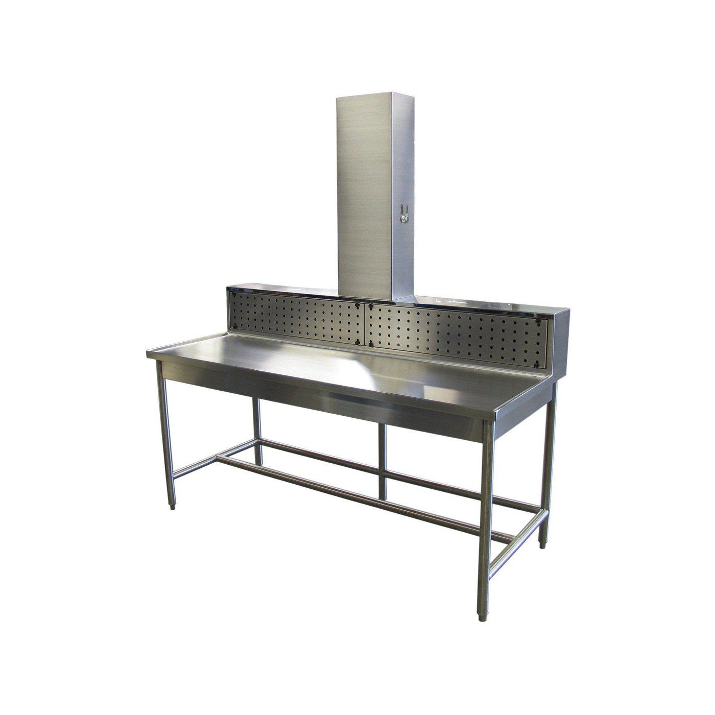 Backdraft Dissection Station-Necropsy Dissection Tables-Mortech Manufacturing Company Inc. Quality Stainless Steel Autopsy, Morgue, Funeral Home, Necropsy, Veterinary / Anatomy, Dissection Equipment and Accessories