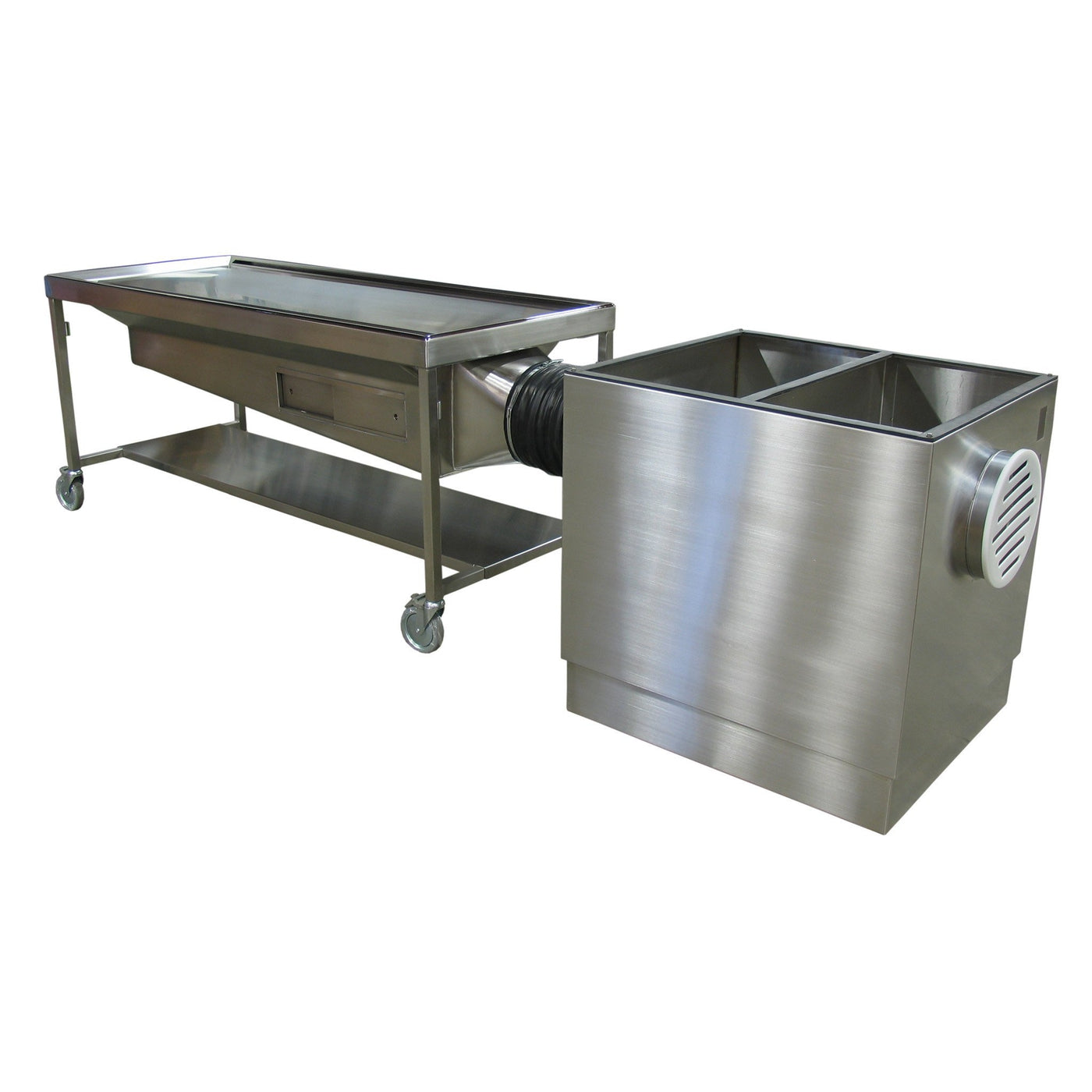 Custom Dissection Table-Custom Product-Mortech Manufacturing Company Inc. Quality Stainless Steel Autopsy, Morgue, Funeral Home, Necropsy, Veterinary / Anatomy, Dissection Equipment and Accessories
