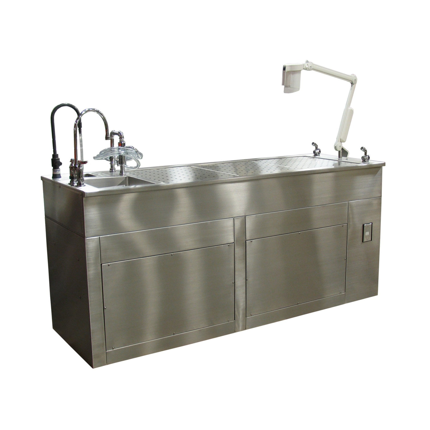 Custom Workstation-Anatomy Dissection Tables-Mortech Manufacturing Company Inc. Quality Stainless Steel Autopsy, Morgue, Funeral Home, Necropsy, Veterinary / Anatomy, Dissection Equipment and Accessories