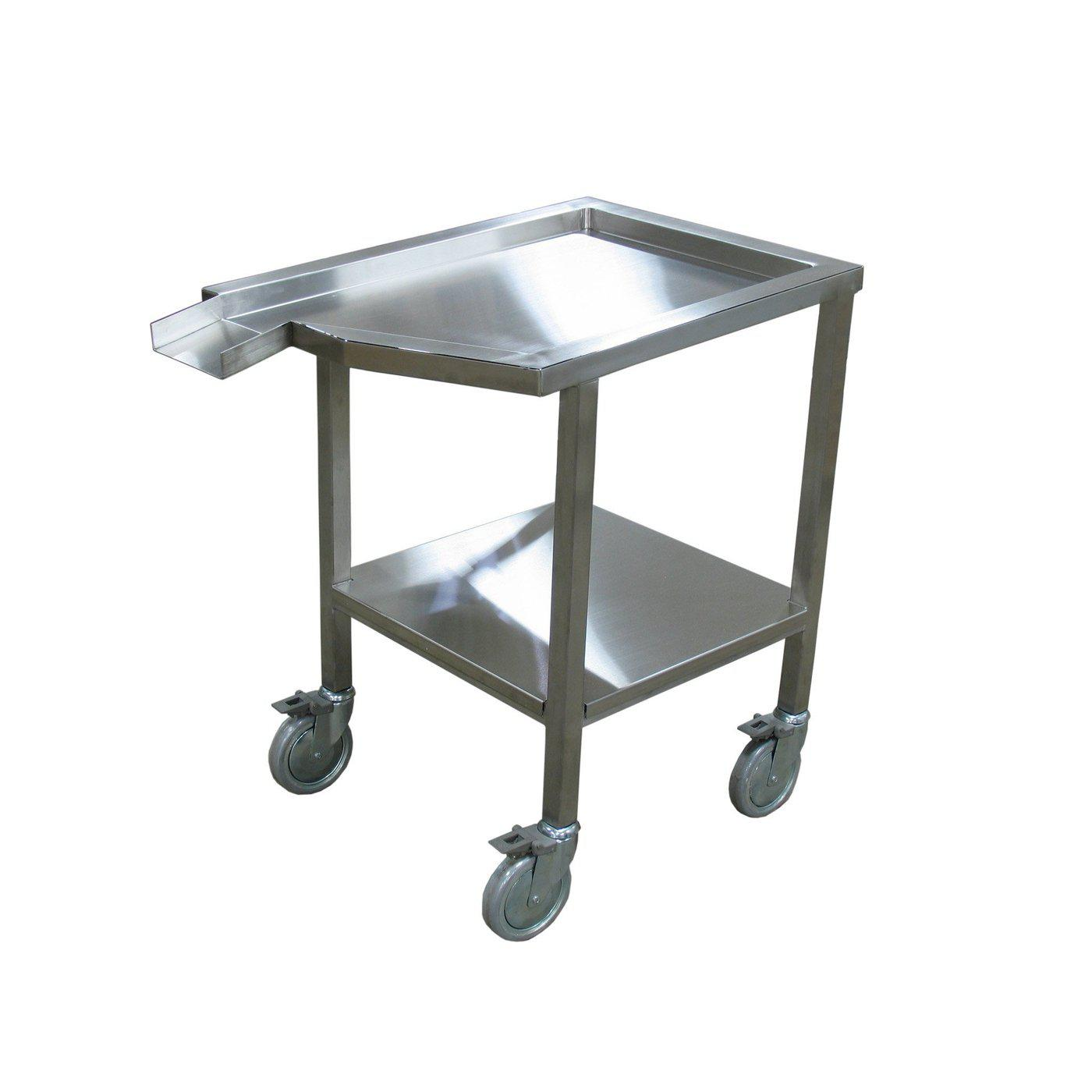 Dissecting Cart-Pedestal Autopsy Tables-Mortech Manufacturing Company Inc. Quality Stainless Steel Autopsy, Morgue, Funeral Home, Necropsy, Veterinary / Anatomy, Dissection Equipment and Accessories