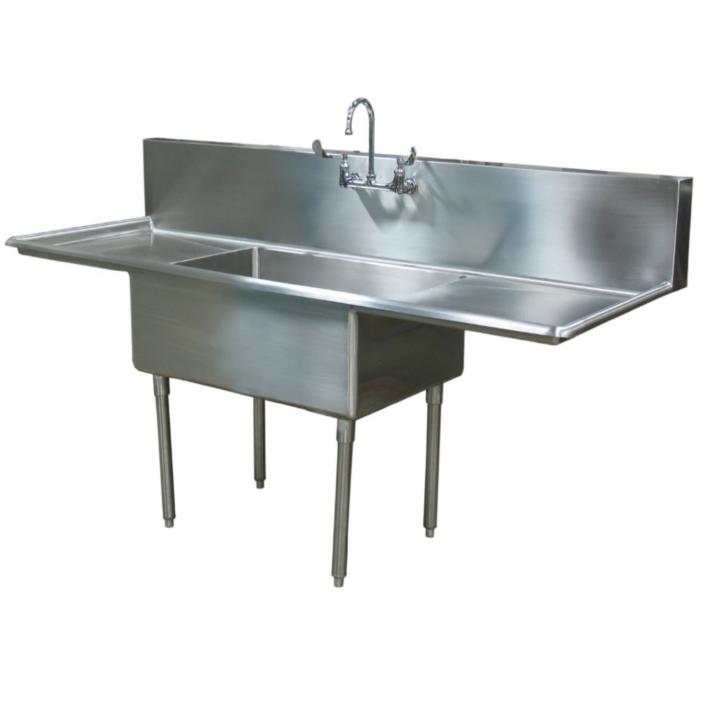 Scullery Sink (Dual Drain Board)-Sink Station-Mortech Manufacturing Company Inc. Quality Stainless Steel Autopsy, Morgue, Funeral Home, Necropsy, Veterinary / Anatomy, Dissection Equipment and Accessories