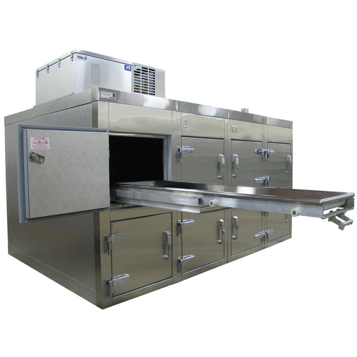 Eight Body Refrigerator-Refrigeration-Mortech Manufacturing Company Inc. Quality Stainless Steel Autopsy, Morgue, Funeral Home, Necropsy, Veterinary / Anatomy, Dissection Equipment and Accessories