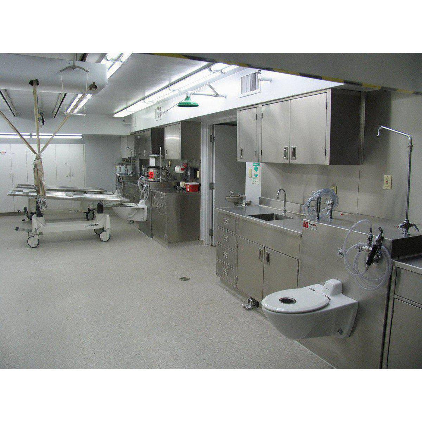 Flush embalming station mortech manufacturing company Embalming room design