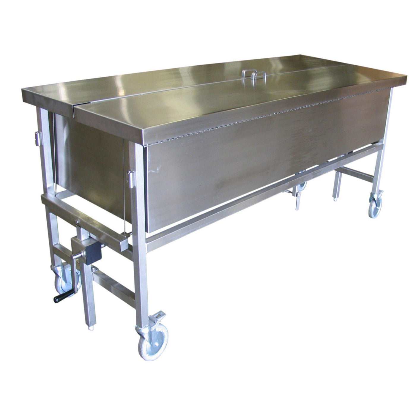 Crank Elevated Immersion Dissection Table-Anatomy Dissection Tables-Mortech Manufacturing Company Inc. Quality Stainless Steel Autopsy, Morgue, Funeral Home, Necropsy, Veterinary / Anatomy, Dissection Equipment and Accessories