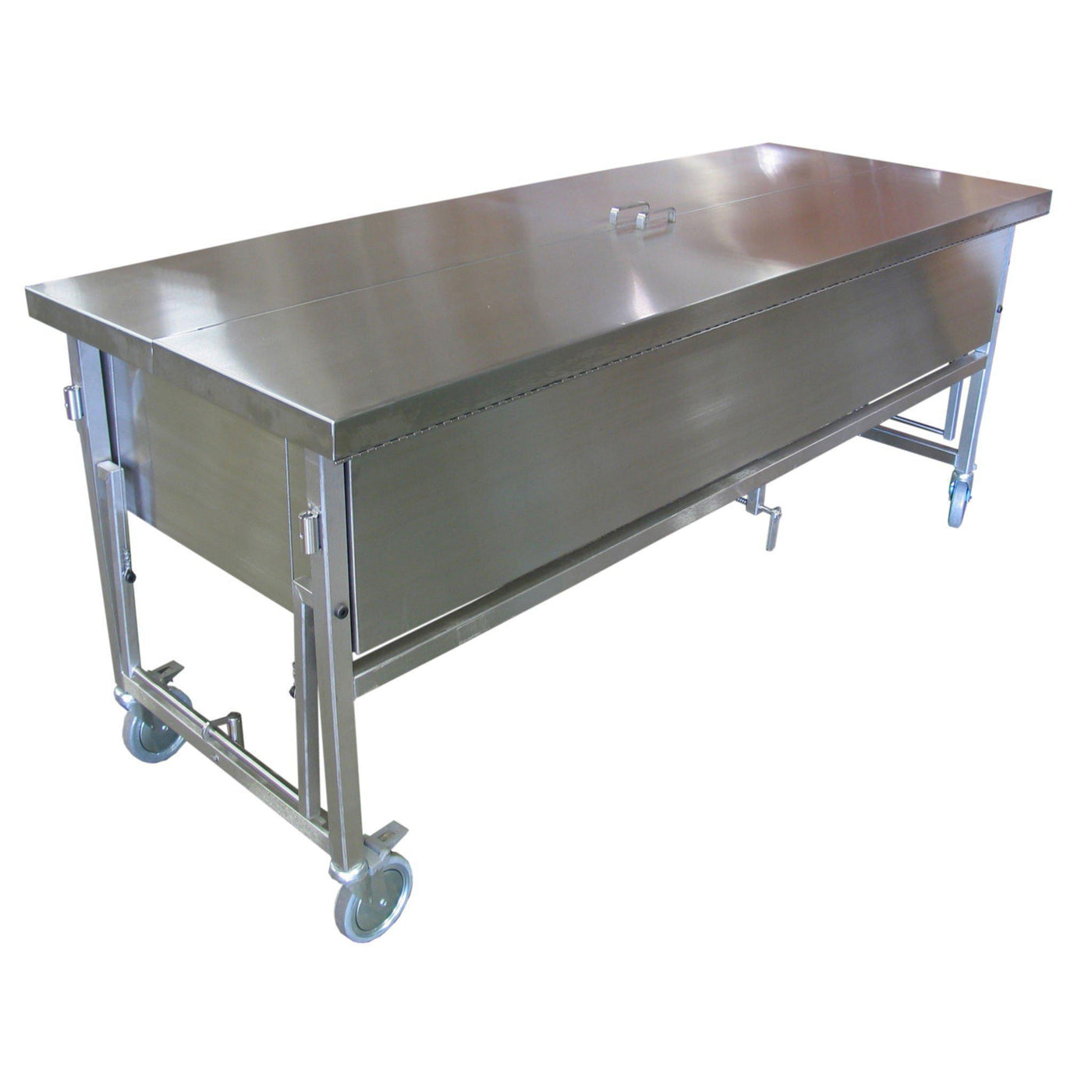 Manually Elevated Immersion Dissection Table-Anatomy Dissection Tables-Mortech Manufacturing Company Inc. Quality Stainless Steel Autopsy, Morgue, Funeral Home, Necropsy, Veterinary / Anatomy, Dissection Equipment and Accessories