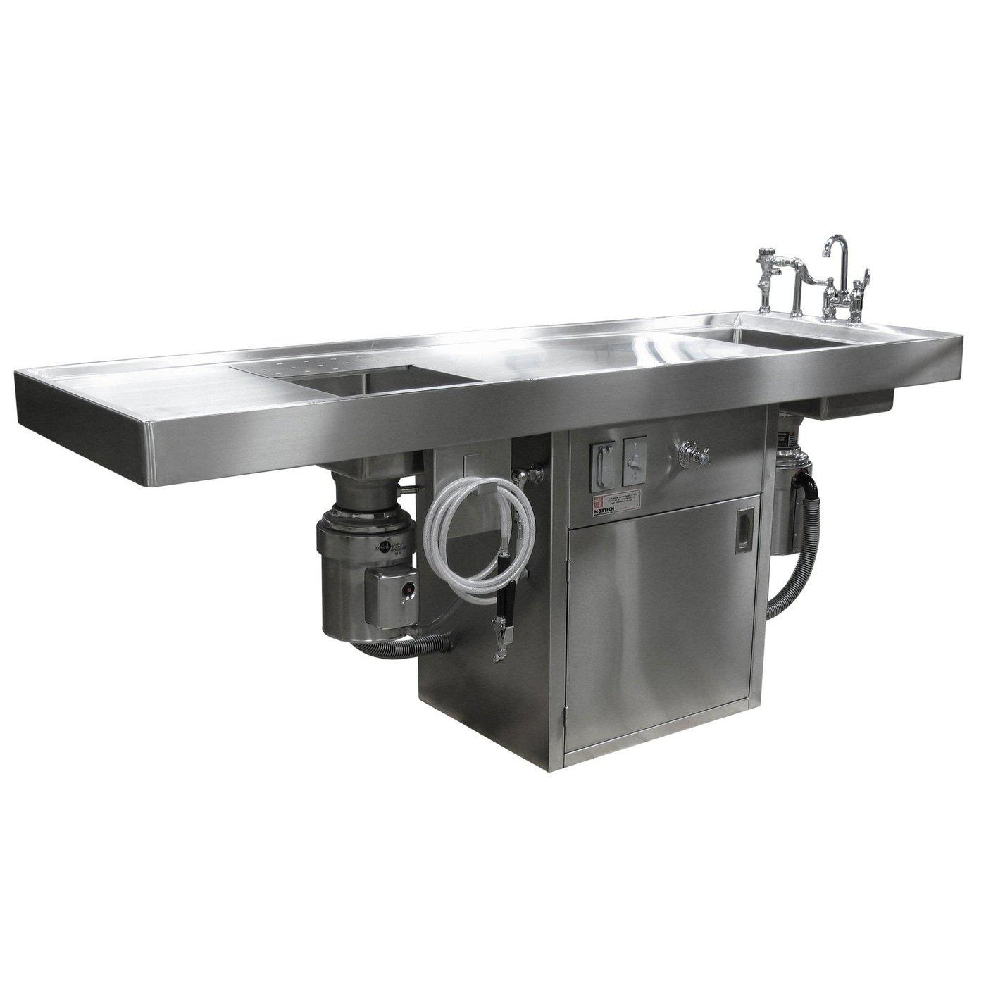 Medium Size Necropsy Station-Necropsy Dissection Tables-Mortech Manufacturing Company Inc. Quality Stainless Steel Autopsy, Morgue, Funeral Home, Necropsy, Veterinary / Anatomy, Dissection Equipment and Accessories