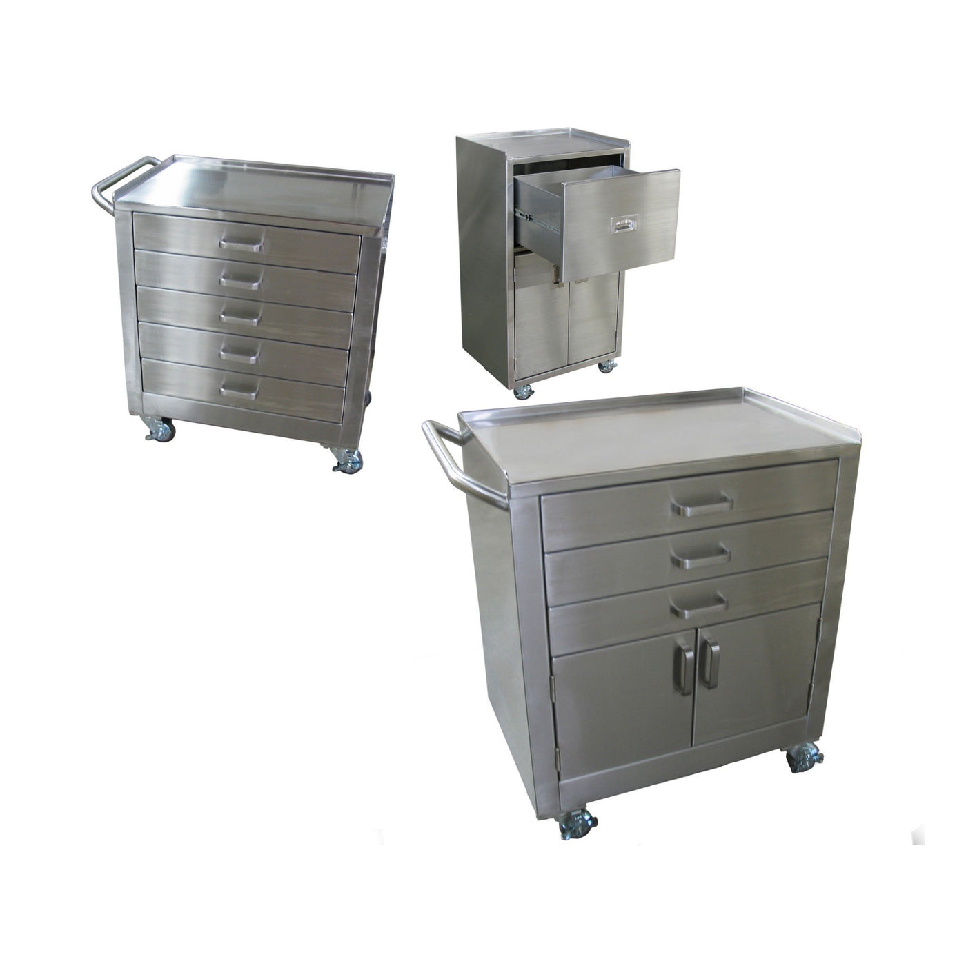 Mobile Utility Cabinets-Laboratory Accessory-Mortech Manufacturing Company Inc. Quality Stainless Steel Autopsy, Morgue, Funeral Home, Necropsy, Veterinary / Anatomy, Dissection Equipment and Accessories