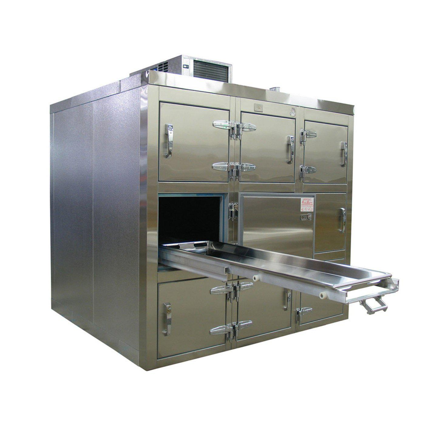 Nine Body Refrigerator-Refrigeration-Mortech Manufacturing Company Inc. Quality Stainless Steel Autopsy, Morgue, Funeral Home, Necropsy, Veterinary / Anatomy, Dissection Equipment and Accessories