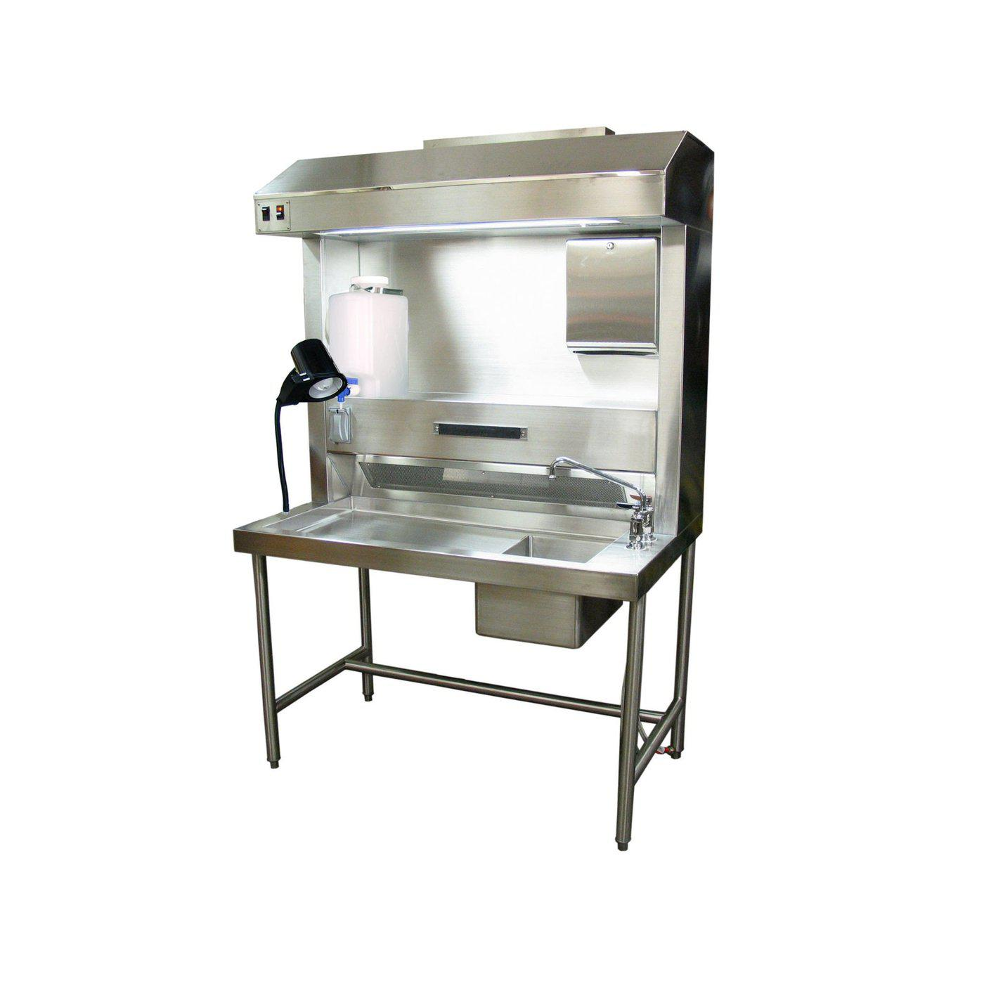 Pathology Workstation-Pathology Grossing Stations-Mortech Manufacturing Company Inc. Quality Stainless Steel Autopsy, Morgue, Funeral Home, Necropsy, Veterinary / Anatomy, Dissection Equipment and Accessories