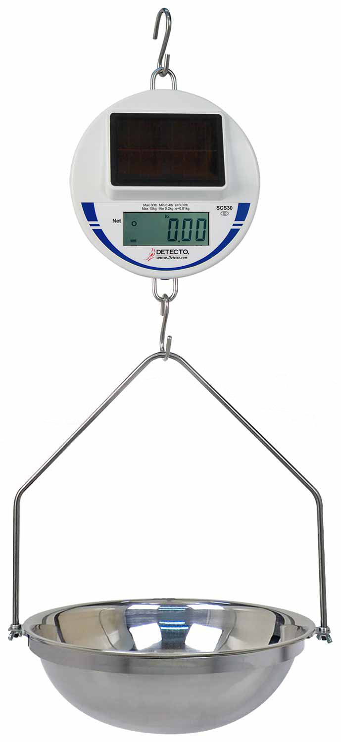 Solar Powered Hanging Scale-Laboratory Accessory-Mortech Manufacturing Company Inc. Quality Stainless Steel Autopsy, Morgue, Funeral Home, Necropsy, Veterinary / Anatomy, Dissection Equipment and Accessories