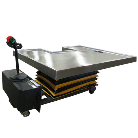 Self Propelled Hydraulic Necropsy Table Mortech
