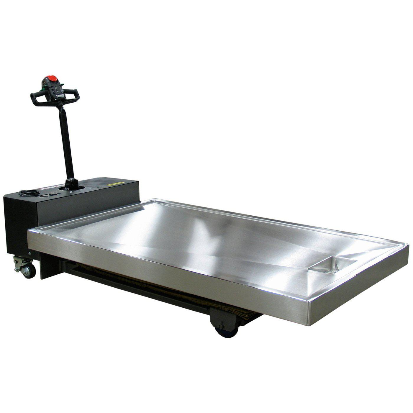 Self-Propelled Hydraulic Necropsy Table-Necropsy Dissection Tables-Mortech Manufacturing Company Inc. Quality Stainless Steel Autopsy, Morgue, Funeral Home, Necropsy, Veterinary / Anatomy, Dissection Equipment and Accessories