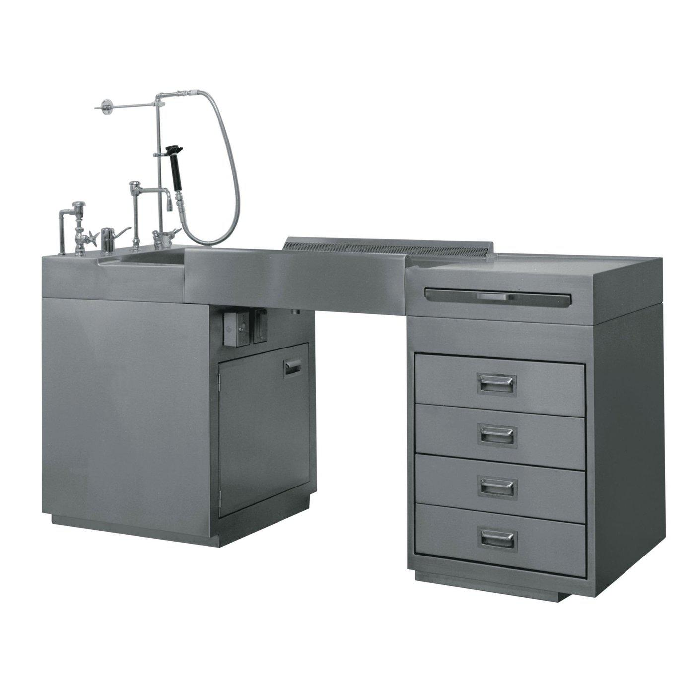 Side Exhaust Pathology Workstation-Pathology Grossing Stations-Mortech Manufacturing Company Inc. Quality Stainless Steel Autopsy, Morgue, Funeral Home, Necropsy, Veterinary / Anatomy, Dissection Equipment and Accessories