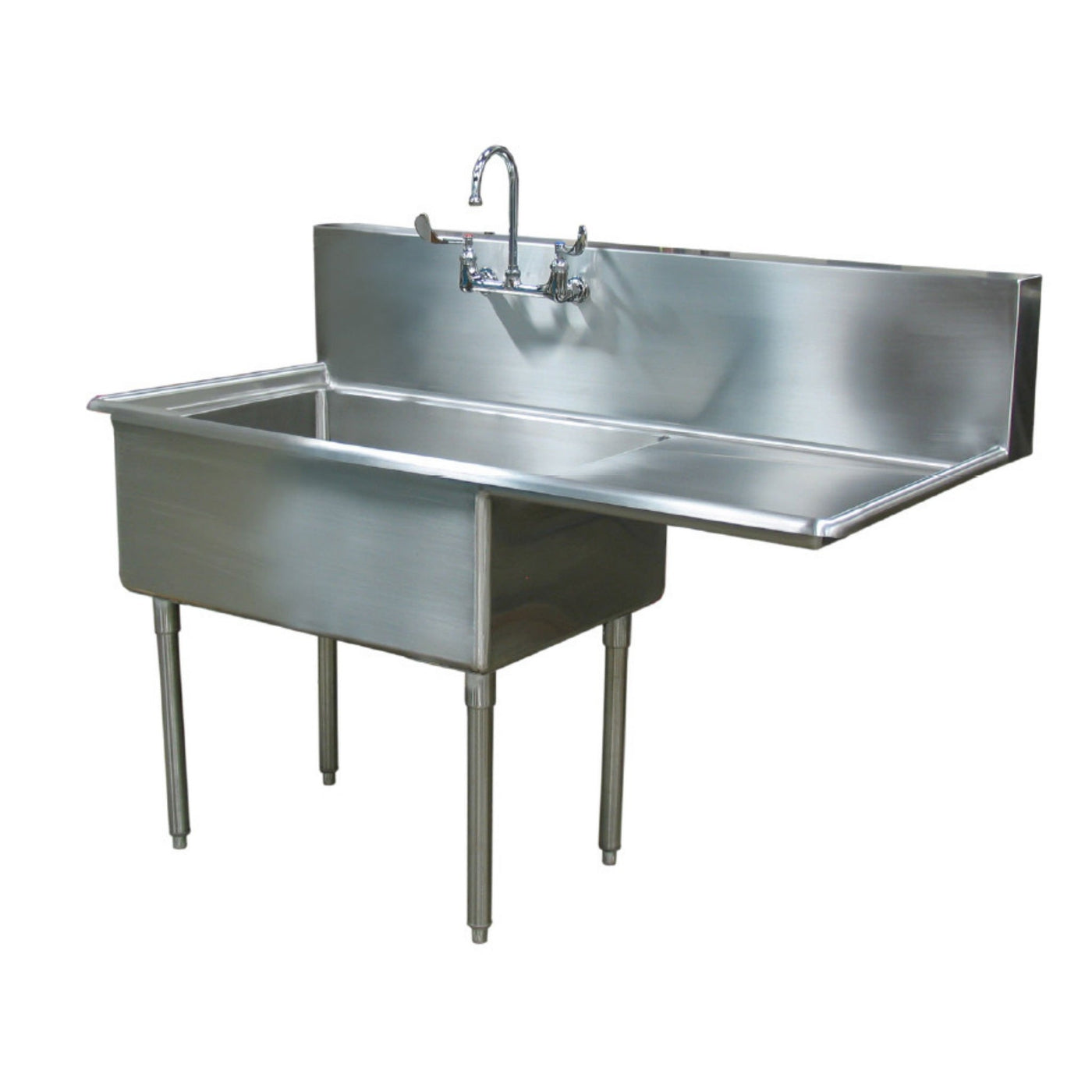 Scullery Sink (Single Drain Board)-Sink Station-Mortech Manufacturing Company Inc. Quality Stainless Steel Autopsy, Morgue, Funeral Home, Necropsy, Veterinary / Anatomy, Dissection Equipment and Accessories