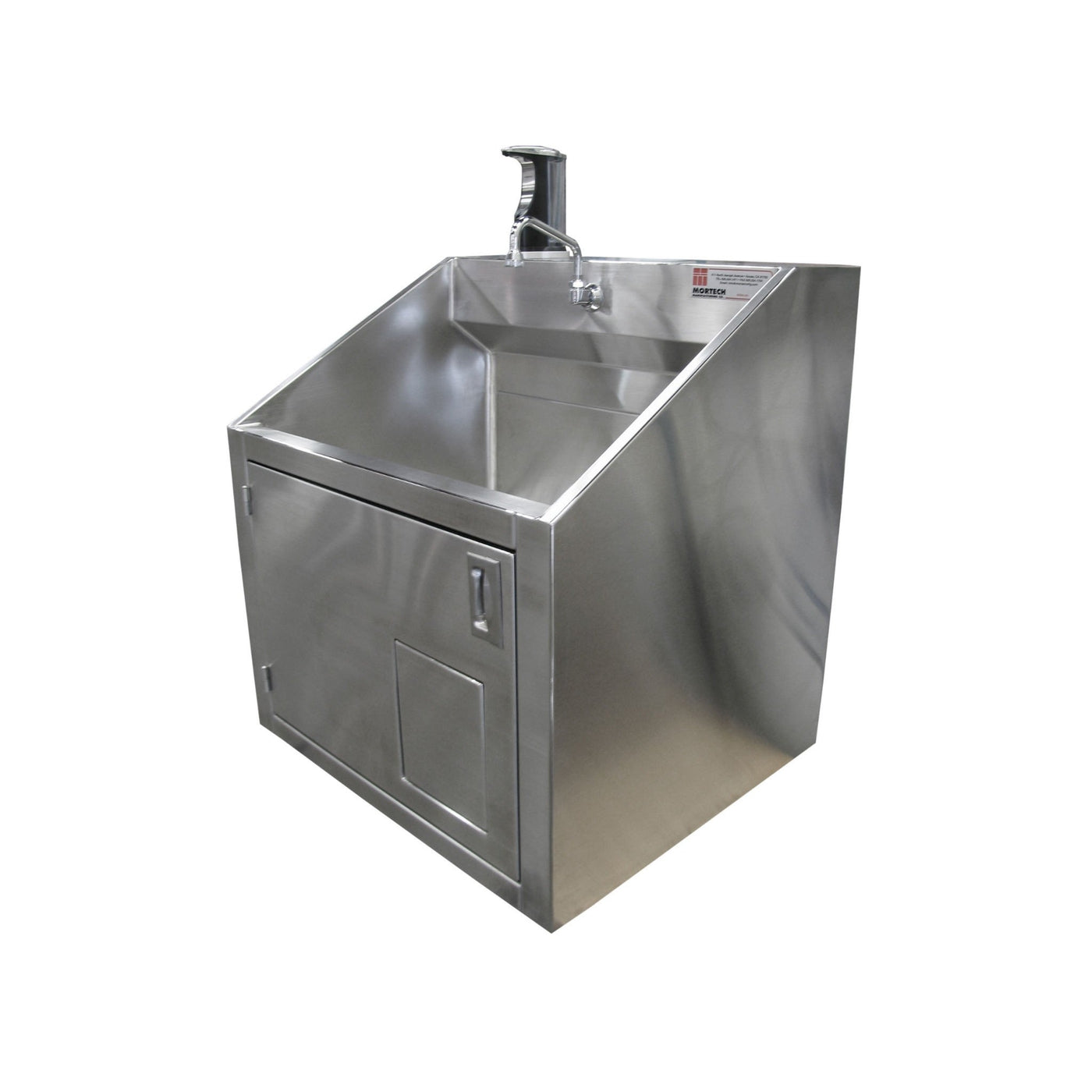 Single Scrub Station-Sink Station-Mortech Manufacturing Company Inc. Quality Stainless Steel Autopsy, Morgue, Funeral Home, Necropsy, Veterinary / Anatomy, Dissection Equipment and Accessories