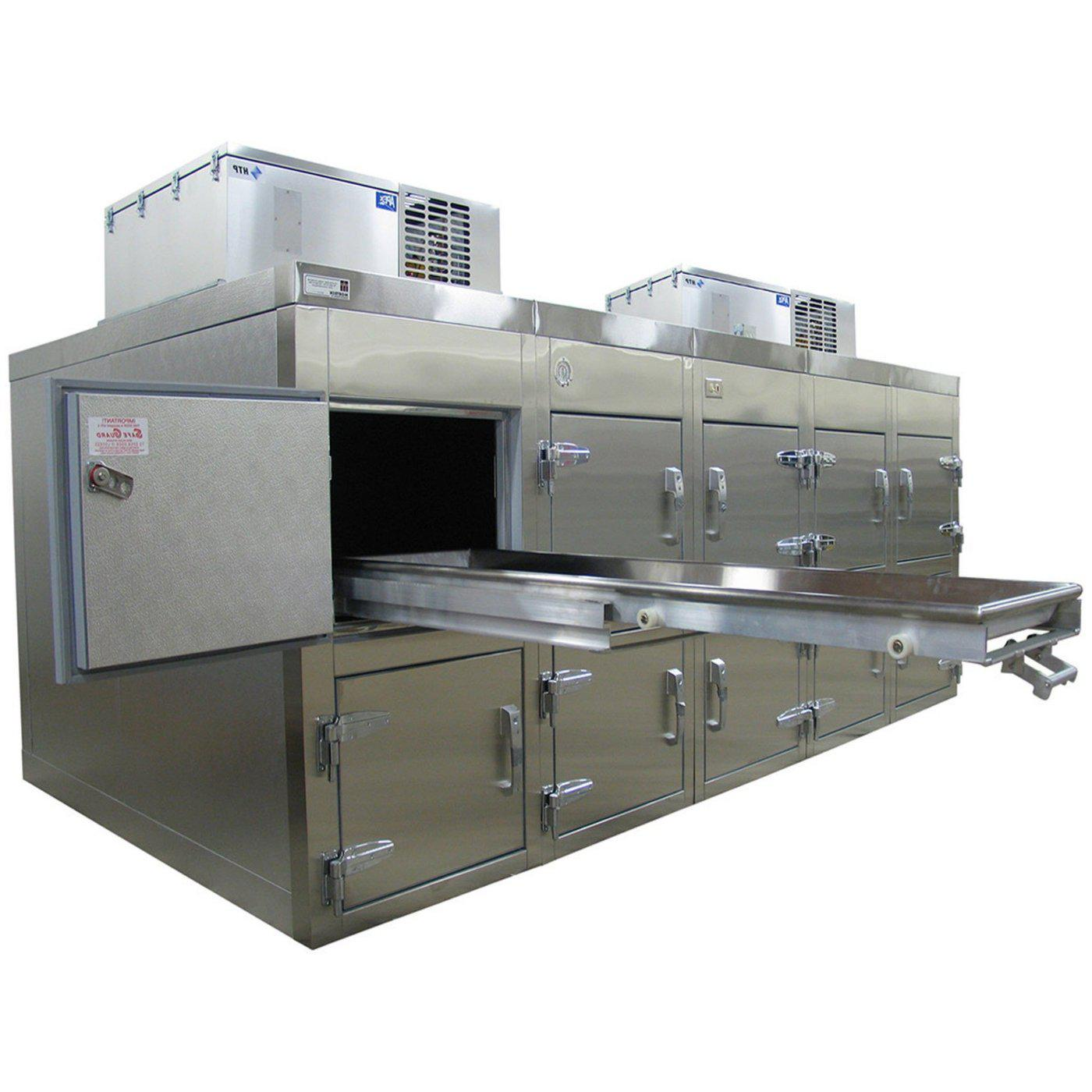 Ten Body Refrigerator-Refrigeration-Mortech Manufacturing Company Inc. Quality Stainless Steel Autopsy, Morgue, Funeral Home, Necropsy, Veterinary / Anatomy, Dissection Equipment and Accessories