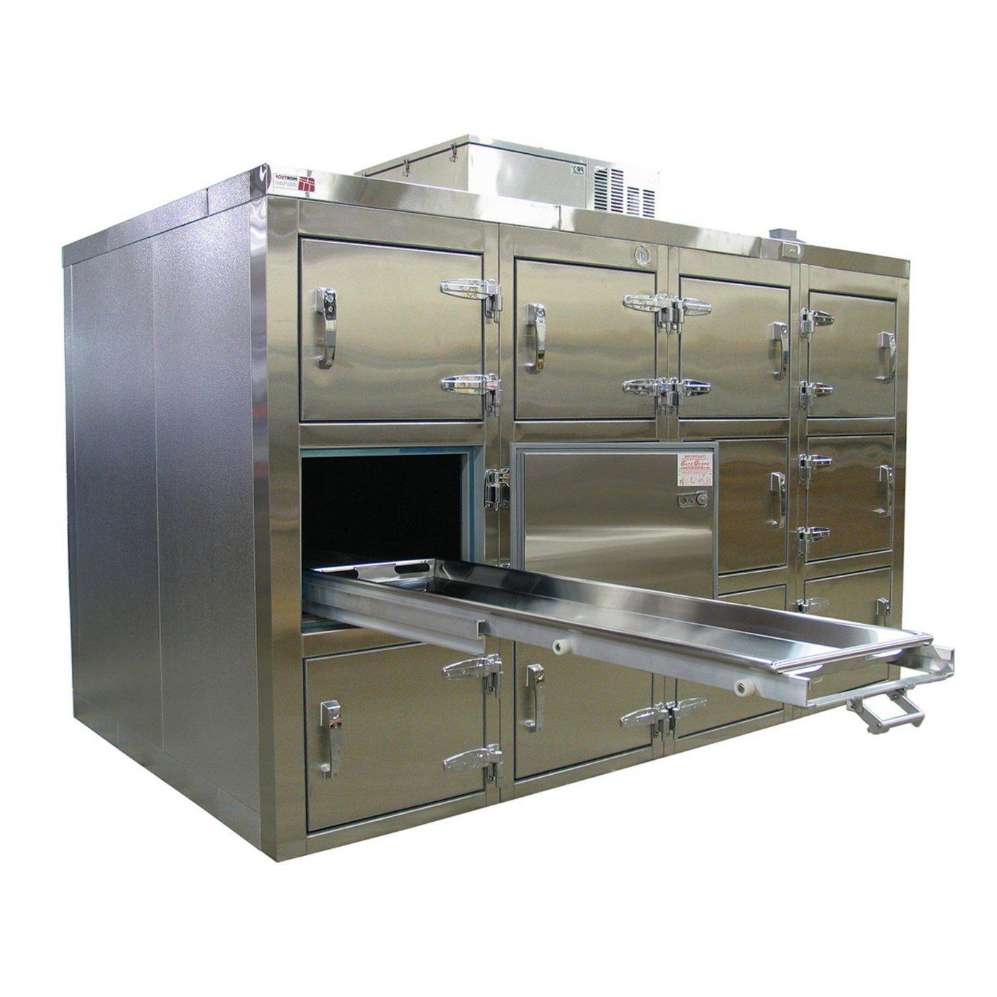 Twelve Body Refrigerator-Refrigeration-Mortech Manufacturing Company Inc. Quality Stainless Steel Autopsy, Morgue, Funeral Home, Necropsy, Veterinary / Anatomy, Dissection Equipment and Accessories