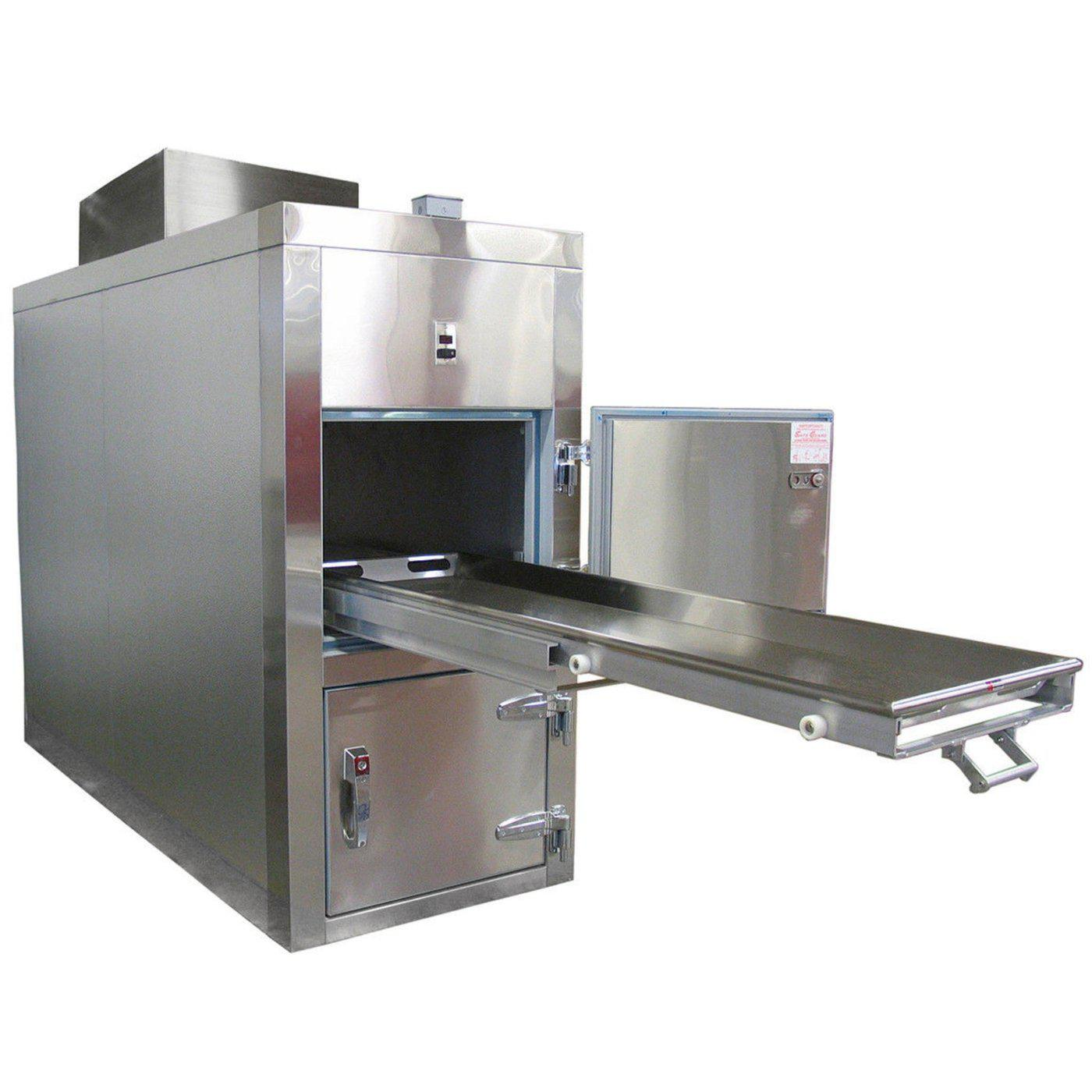 Two Body Refrigerator-Refrigeration-Mortech Manufacturing Company Inc. Quality Stainless Steel Autopsy, Morgue, Funeral Home, Necropsy, Veterinary / Anatomy, Dissection Equipment and Accessories
